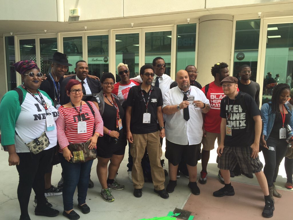 #BLMSDCC2016 Black Lives Matter event at San Diego Comic Con 2016. I... I don't know why I'm standing like that.